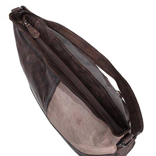 Rada Nature Beuteltasche Lenox Ave echt Leder Handtasche in verschiedenen Farben lilac/grey