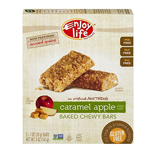 Enjoy Life Baked Chewy 1 Ounce Bars, Gluten Free, Dairy Free, Nut Free & Soy Free, Sunbutter Crunch, (Pack of 96)