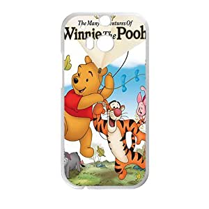 Happy Winnie the pooh Case Cover For HTC M8 Case