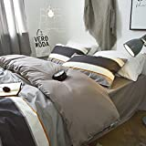 Cotton Solid Deep Pocket Fitted Sheet Queen Modern Luxury Bedding Sheet Hotel Quality Microfiber Bedding Fitted Sheet for Men Boys Teens Adults, Wrinkle Free