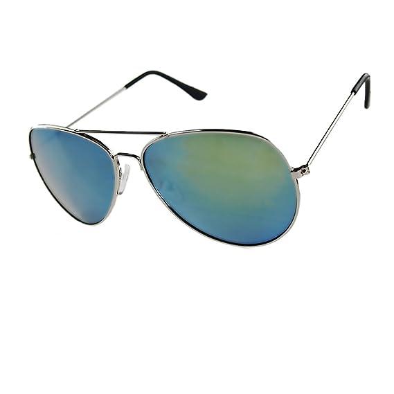 LUFA Lunettes de soleil réfléchissant Objectif Métal + résine UV400 SilverFreen & SilverLens1# UxHUmB