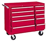 Kennedy Manufacturing 310XR 39'' 10-Drawer Industrial Double-Bank Roller Cabinet, Industrial Red
