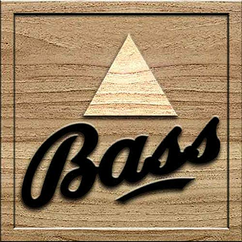 Bass Pale Ale 3D Solid Wood Craving Wall Decoration Standard Square