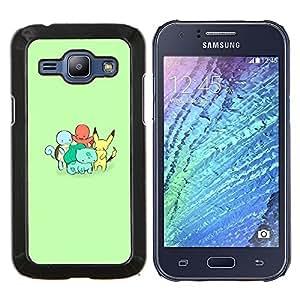 EJOOY---Cubierta de la caja de protección para la piel dura ** Samsung Galaxy J1 J100 ** --Charactors monstruo lindo poke
