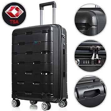 Amazon.com: Juego de equipaje ligero, carretilla giratoria ...