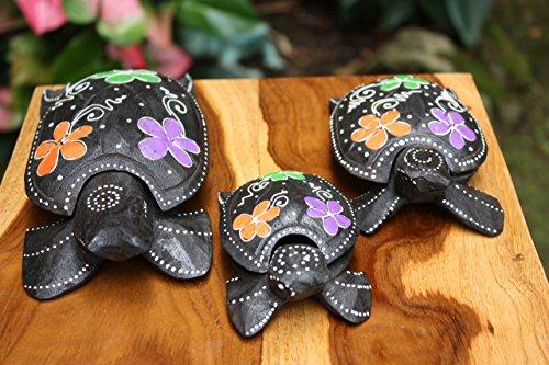 Set of 3 Turtles Ashtray/Keepsake Boxes Floral   #wib3710