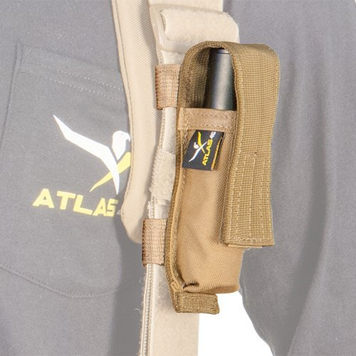Atlas 46 Suspender Attachment Mini Flashlight Pouch Coyote | Work, Utility, Construction, Tactical and Contractor