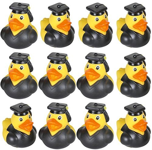 24 GRADUATION Rubber Duckies Ducks - 2 inch by happy deals