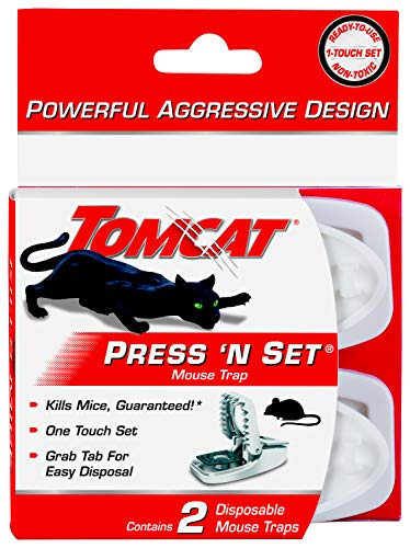 Tomcat Press 'N Set Mouse Trap, 2-Pack (Mouse Traps Ortho)