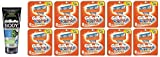 Gillette Body Non Foaming Shave Gel for Men, 5.9 Fl Oz + Fusion Power Refill Blades 8 Ct (10 Pack) + FREE Travel Toothbrush, Color May Vary