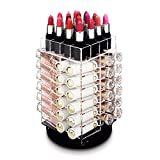 Ikee Design Acrylic Rotating 64 Lipstick Holder Organizer Spinning Lipstick Tower Lipgloss Holder...