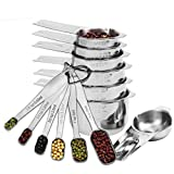DILISS Gourmet Measuring Cups and Measuring Spoons Set