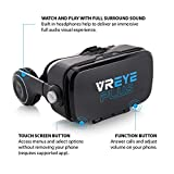 Nuwave Virtual Reality Headset with Built-In Audio and Bluetooth Controller