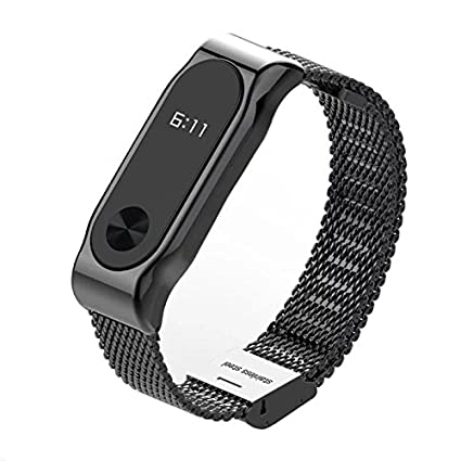 Amazon com : Metal Strap Band For Mi Band 2 Wristbands Stainless