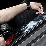 Protector de parachoques trasero universal de fibra de carbono para puerta, protector de goma para parachoques trasero, protector para la entrada de la puerta delantera y trasera, 5cm X