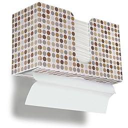 TrippNT 51339 Retro Dots Plastic Dual-Dispensing Paper Towel Holder, 10 7/8\