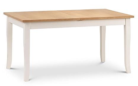 Awe Inspiring Julian Bowen Davenport Extending Dining Table Solid Rubberwood Oiled Oak Veneers One Size Customarchery Wood Chair Design Ideas Customarcherynet