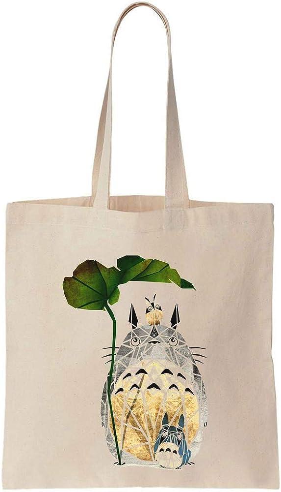 Cute Anime Characters Geometric Art Cotton Canvas Tote Bag