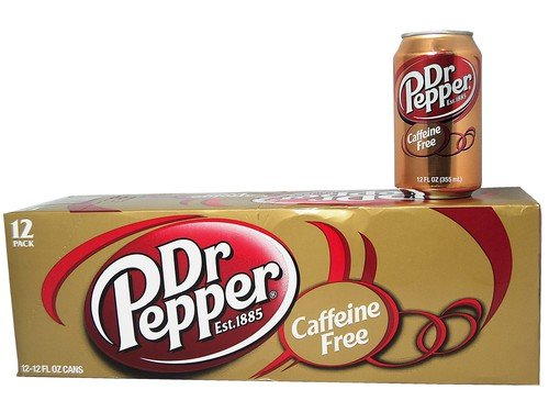 Caffeine Free Beverages - Dr. Pepper Caffeine Free 12oz Can Pack of 12
