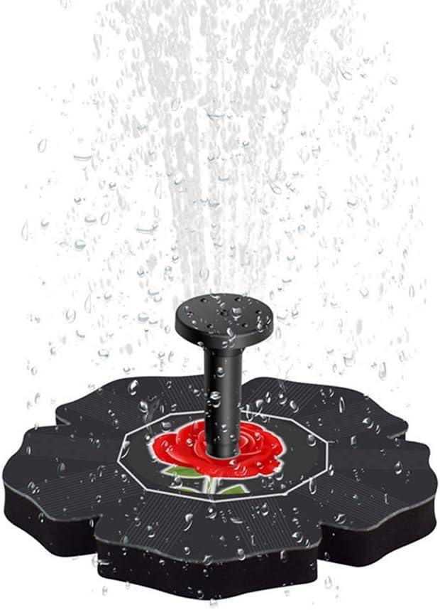 Fuente Solar Suspensión Piscina al Aire Libre Agua Corriente Fuente Flotante Sumergible Independiente para Estanque pequeño Tanque de Peces Patio Jardín Panel Solar Kit de Bomba de Agua
