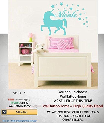 Amazon Com Unicorn Wall Art Custom Name Decals Sticker Personalized