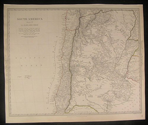 South America La Plata Chile Argentine Republic 1840 antique engraved ()