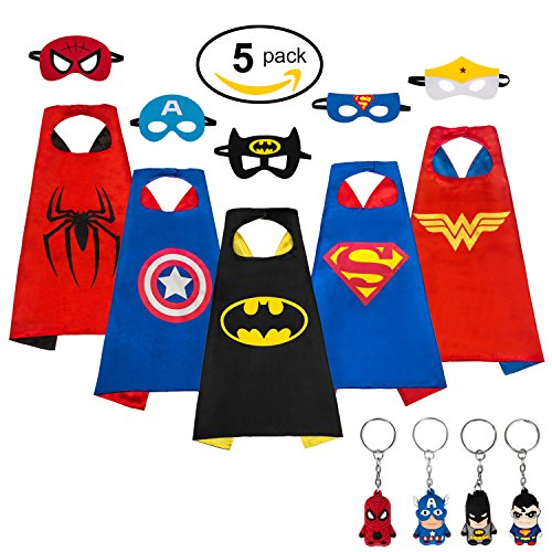 Superhero Dress Up Children's Game Costumes Capes for Kids Halloween Party Cape (Halloween Dress Up Party Games)