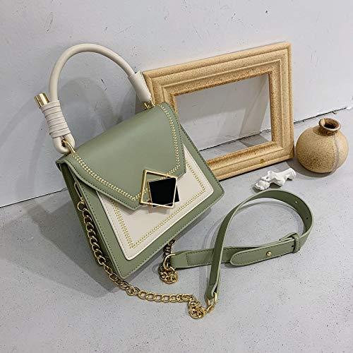 WHXYAA Womens Messenger Bag Fashion Joker Small Square Bag Creative Portable Trapezoidal Bag Color : Black