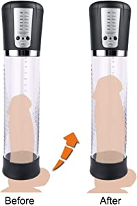 Electric Men's PenisPump Vacuum Booster, Men's Pennis Dilator-Vacuum Booster, Rechargeable, Can Increase Size and Strength