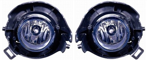 (Nissan Frontier Replacement Fog Light Assembly (Chrome Bumper) - 1-Pair by AutoLightsBulbs )