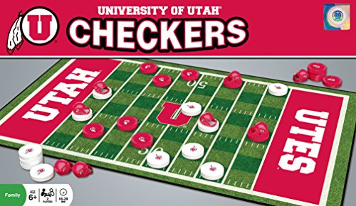 MasterPieces NCAA Sports Checkers, Red, 8