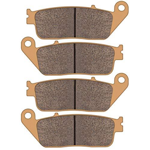 Zinger Brake Pad for Honda CB 500 VT 750/1100/1300 & 2013-2015 Suzuki VL 1500 & 2012-2014 BMW C 600 Sport/C 650 GT,2 Set Replacement Brake Pads