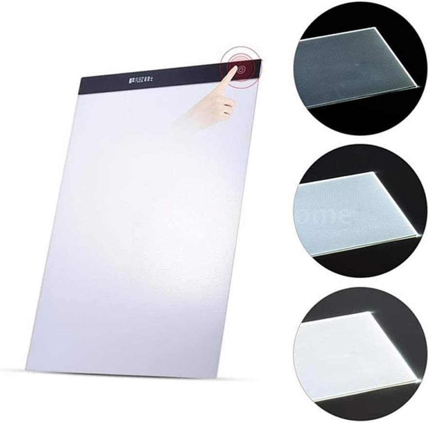 Sipobuy A4 Ultra Slim Portable LED Light Box Adjustable 3-Levels Brightness Artists Drawing Painting Sketching Animation Tracing Copy Pad Board for Kids Adults with Charge Cable /& 2pcs Clips