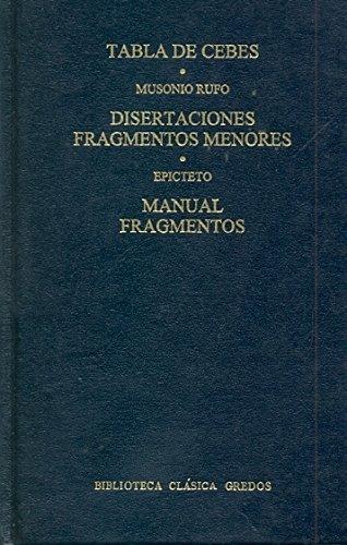 Tabla cebes disertaciones fragmentos (B. BÁSICA GREDOS)