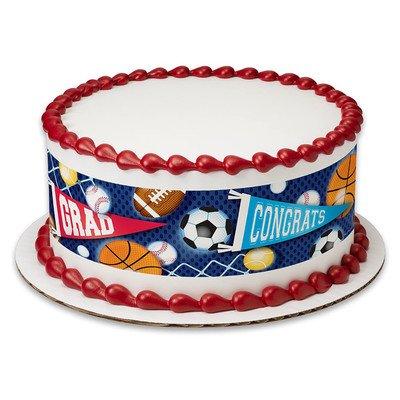 Standups 12 Edible Premium Cake Toppers GRADUATION MORTAR BOARD /& SCROLL