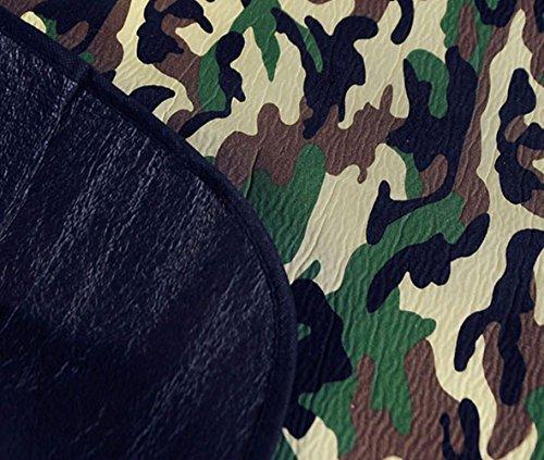 Katech Tragbar Camouflage Picknickdecke faltbar Strand Pad Großer Outdoor Reise Camping dampproof Matte für Baby kriechen, Kinder spielen oder Schlafen