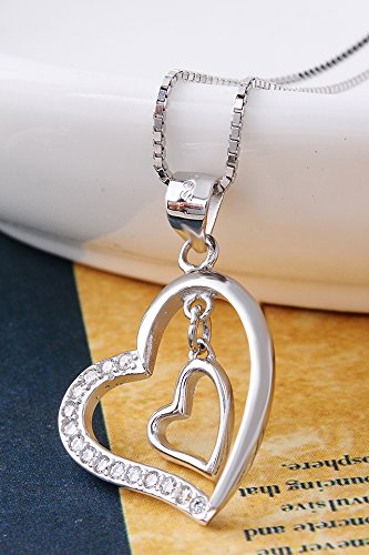Thai Love You Have Your Unique Heart Necklace Pendant Women Girls Chain Clavicle Short s925 Sterling Silver Accessories Gift