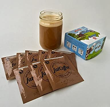 fatCoffee 100% de hierba alimentada Ghee para alimentar su Keto y Paleo café o té, 8 paquetes - Chocolate: Amazon.es: Alimentación y bebidas