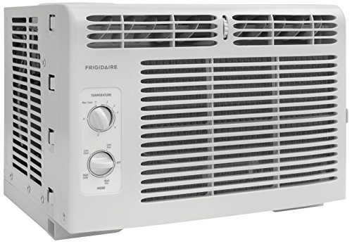 - Frigidaire FFRA0511R1E 5, 000 BTU 115V Window-Mounted Mini-Compact Air Conditioner with Mechanical Controls