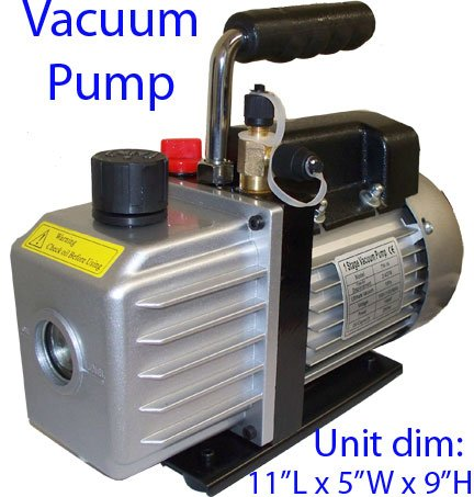 Electric Rotary Vane Vacuum Pump Single Stage 2.5CFM