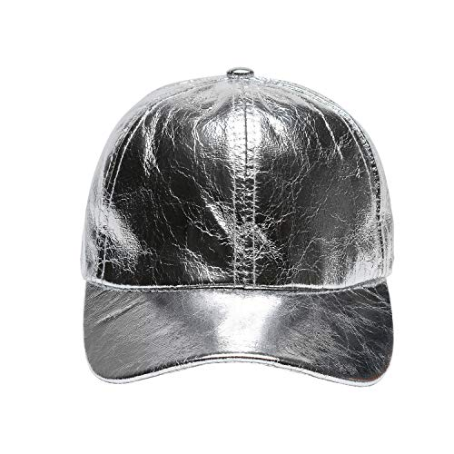 Classic Baseball Cap All Cotton Made Adjustable Fits Men Women Hat Unconstructed Dad Hat (Silver)