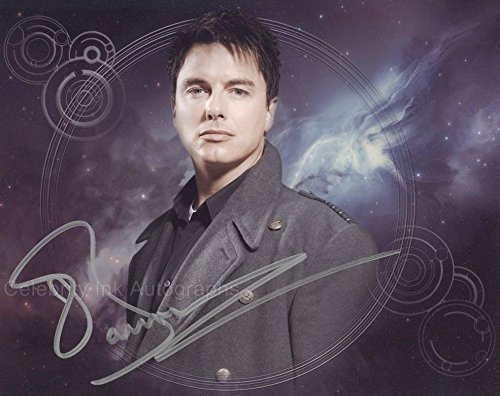JOHN BARROWMAN as Captain Jack Harkness - Torchwood/Doctor Who GENUINE AUTOGRAPH