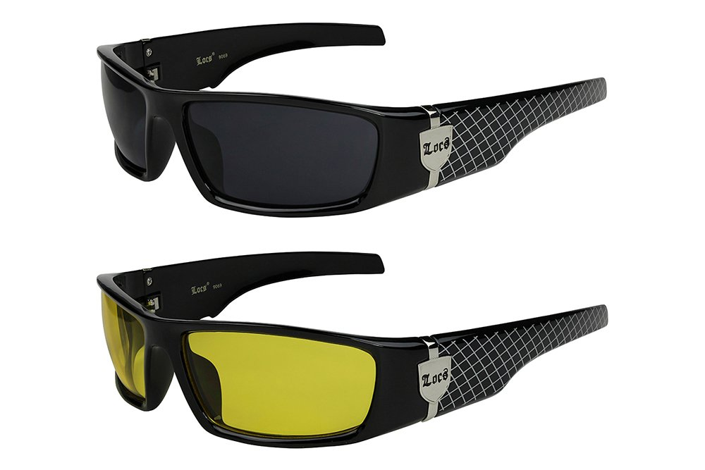 2er Pack Choppers 911 Locs Motorradbrille transparent Gläser Herren Damen silber