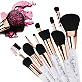 Make Up Brushes, Safe&Care 12 Pieces Start Makers Marble Makeup Brushes Set Foundation Blending Blush Eye Face Liquid Powder Cream Cosmetics Brushes Kit for Women Or Girls