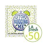 La Fresh Mosquito Repellent Wipes - Natural, Deet Free, Non Toxic, Long Lasting Repellent Protects Against Almost All Bugs Safe for Your Kids,Family (50 Packets Individually Wrapped, Travel Friendly)