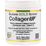 California Gold Nutrition, Collagen UP 5000, Marine Sourced Collagen Peptides + Hyaluronic Acid + Vitamin C, 7.23 oz (205 g), Gluten-Free, Soy-Free, No GMOs, Peanut Free, Shellfish Free, CGN