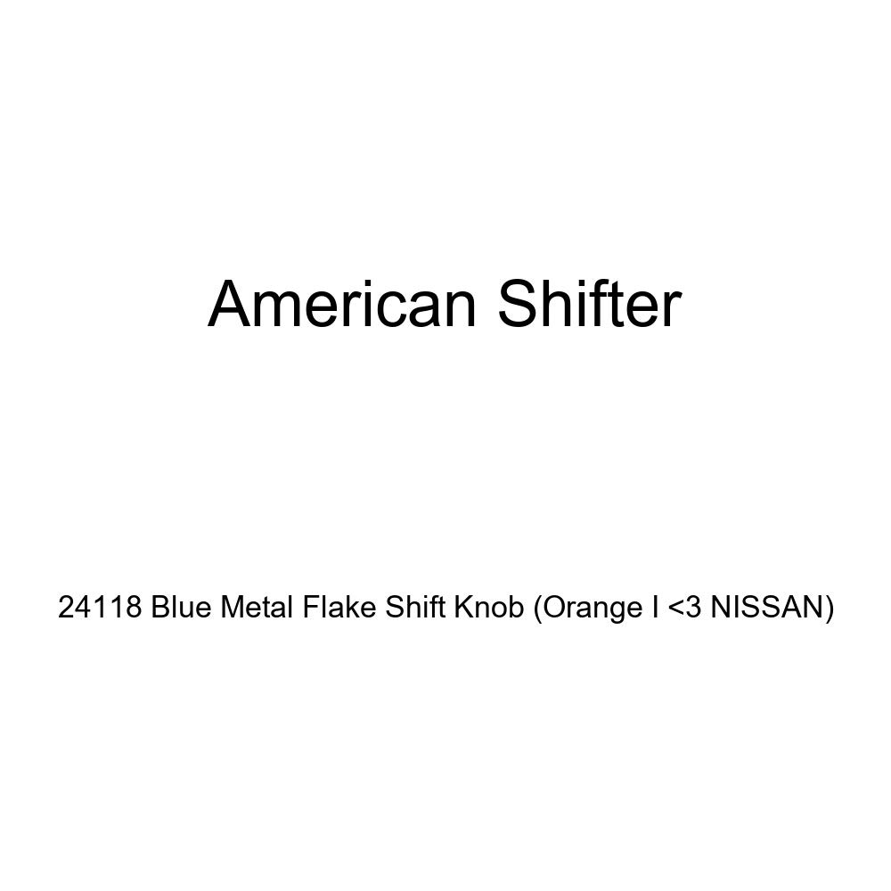 Orange I 3 Nissan American Shifter 24118 Blue Metal Flake Shift Knob
