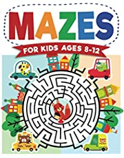 Mazes For Kids Ages 8-12: Maze Activity Book | 8-10, 9-12, 10-12 year olds | Workbook for Children with Games, Puzzles, and Problem-Solving (Maze Learning Activity Book for Kids)