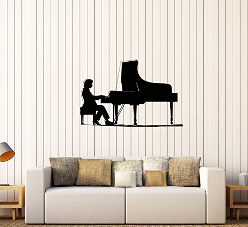 Wall Decal Royal Melody Music Musician Concert Scene Piano Vinyl Decal Unique Gift (ed551) Concert Decal