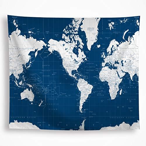 Amazon Com Vakado Nautical World Map Tapestry Wall Hanging Ocean
